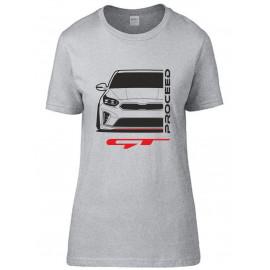 Kia Proceed GT 2019 Outline Modern T-Shirt Lady
