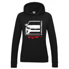 Kia Proceed GT 2019 Outline Modern Lady Hoodie