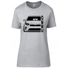 Kia Ceed 2019 Outline Modern T-Shirt Lady