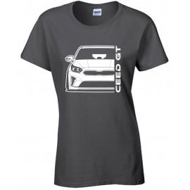 Kia Ceed GT 2019 Outline Modern T-Shirt Lady
