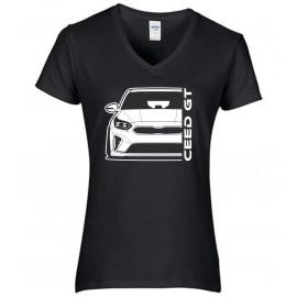 Kia Ceed GT 2019 Outline Modern V-Neck Lady