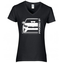 Kia Proceed GT 2019 Outline Modern V-Neck Lady