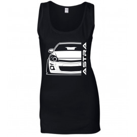 Opel Astra H Modern Outline Tank Top Lady