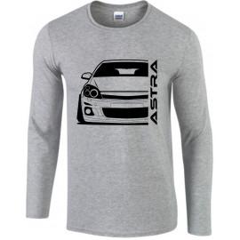 Opel Astra H Modern Outline Longsleeve Shirt
