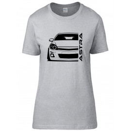 Opel Astra H Modern Outline T-Shirt Lady