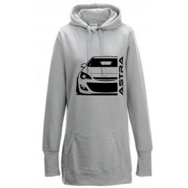 Opel Astra J Modern Outline Hoodie Lady Longline