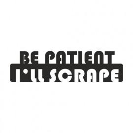 Be Patient i ll Scrape