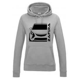 Opel Zafira C Tourer Outline Modern Hoodie Lady