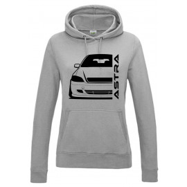 Opel Astra G Cabrio Outline Modern Hoodie Lady