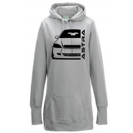 Opel Astra G Cabrio Modern Outline Hoodie Lady Longline
