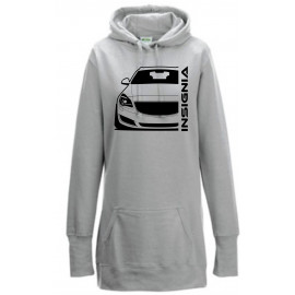 Opel Insignia A Sports Tourer Modern Outline Hoodie Lady Longline