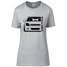 Opel Vectra C Outline Modern T-Shirt Lady