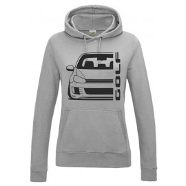 VW Golf 6 Typ 1K 2008-2013 GTD Outline Modern Hoodie Lady