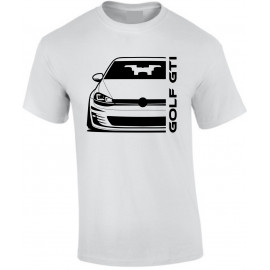 Vw Golf Gti Mk7 Outline Modern T-Shirt