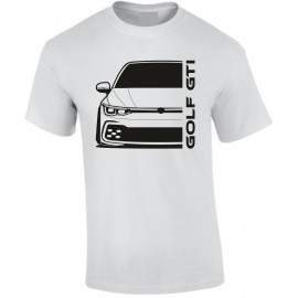 VW Golf Gti MK8 2020 Modern Outline T-Shirt