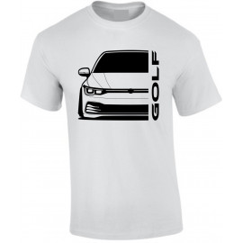 VW Golf MK8 2020 Modern Outline T-Shirt