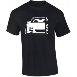 Mazda RX7 FD Outline Modern T-Shirt