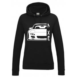 Mazda RX7 FD Outline Modern Hoodie Lady