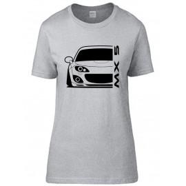 Mazda MX5 Typ NC 05-15 Modern Outline T-Shirt Lady