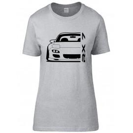 Mazda RX7 FD Outline Modern T-Shirt Lady