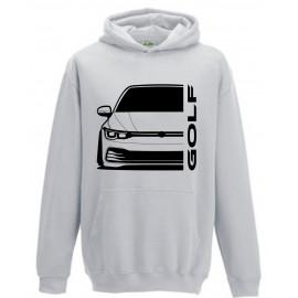 VW Volkswagen Golf MK8 2020 Modern Outline Hoodie