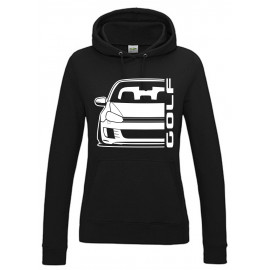 VW Volkswagen Golf 6 Typ 1K GTD 08-13 Outline Modern Hoodie Lady
