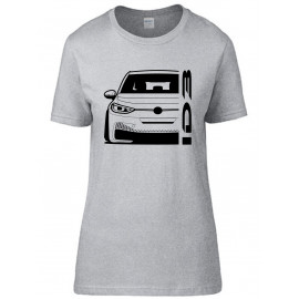 VW Volkswagen ID3 Modern Outline T-Shirt Lady