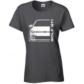 VW Volkswagen Golf Gti MK8 2020 Modern Outline T-Shirt Lady