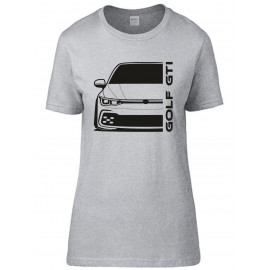 VW Volkswagen Golf Gti MK8 2020 Modern Outline T-Shirt Lady