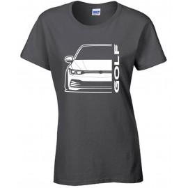 VW Volkswagen Golf MK8 2020 Modern Outline T-Shirt Lady