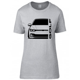 VW Volkswagen Golf MK8 2020 Modern Outline T-Shirt Lady