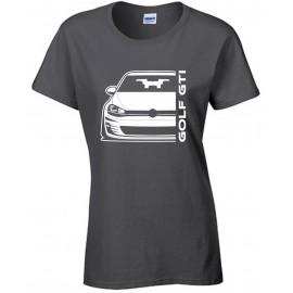 VW Volkswagen  Golf Gti Mk7 Outline Modern T-Shirt Lady
