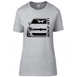 VW Volkswagen  Golf Gti Mk7 Outline Modern T-Shirt Lady