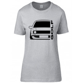 VW Volkswagen Golf II Outline Modern T-Shirt Lady