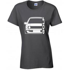 VW Volkswagen Golf II Outline Modern T-Shirt Lady