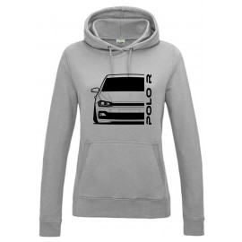 VW Volkswagen Polo 2017 R-Line Outline Modern Hoodie Lady