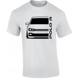 VW Volkswagen Polo 2017 R-Line Outline Modern T-Shirt