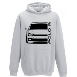 VW Volkswagen Polo 2017 R-Line Outline Modern Hoodie