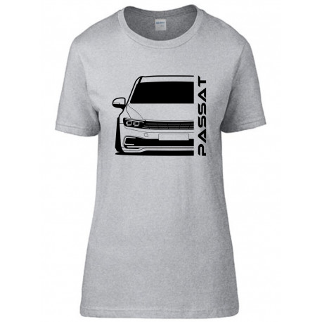 VW Volkswagen Passat GTE 2020 Outline Modern T-Shirt Lady