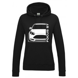 Ford Focus MK3 ST Prefacelift Modern Outline Hoodie Lady