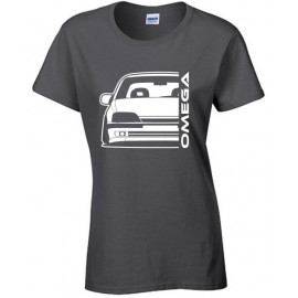 Opel Omega A Outline Modern T-Shirt Lady