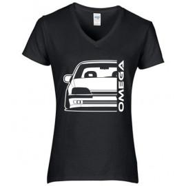 Opel Omega A Outline Modern V-Neck Lady
