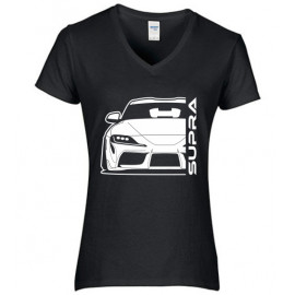 Toyota Supra MK5 Outline Modern V-Neck Lady