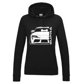 Toyota Supra MK5 Outline Modern Hoodie Lady