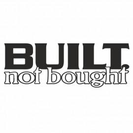 Built not bough
